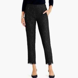 { j. crew } black lace trousers